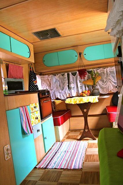 Small Airstream Trailer >> Interior of 1960 Leisure Travel Trailer | Camper ...
