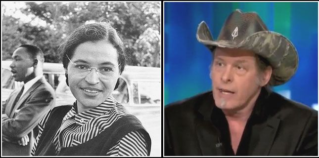 "NRA's Ted Nugent: ""Gun Owners Must Learn From Rosa Parks And Definitely Refuse To Give Up Our Guns"""