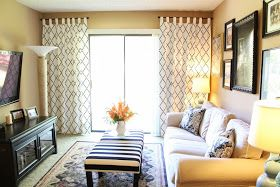 IKEA Hackers: Lovely Stenciled Curtains