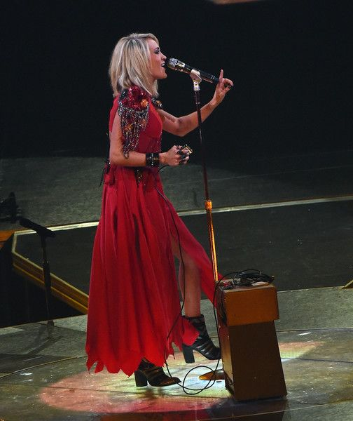 """Carrie Underwood Photos Photos - Carrie Underwood performs during """"The Storyteller Tour"""" at Infinite Energy Arena on February 1, 2016 in Duluth, Georgia. - Carrie Underwood """"The Storyteller Tour"""" - Duluth, Georgia"""