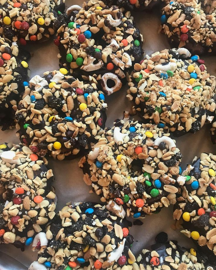 The trail mix donut: the biggest sleeper hit from our August menu. Last weekend to get it ! #PVDonuts