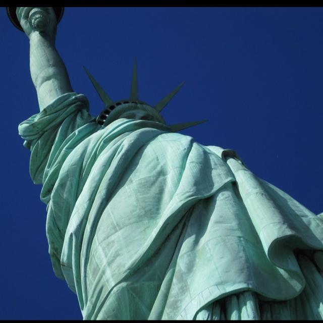 Peeking up the skirt of Lady Liberty...NYC