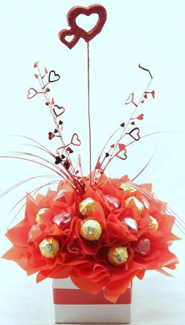 Box of Hearts Chocolate Bouquet