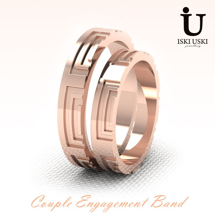 For something a little different, why not try our Pablo Engagement Band!!   #CoupleBand #GoldBand #diamondband #Bands #IskiUski