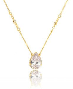 colar tiffany new release com zirconias cristais e cravação na lateral semi joias de luxo