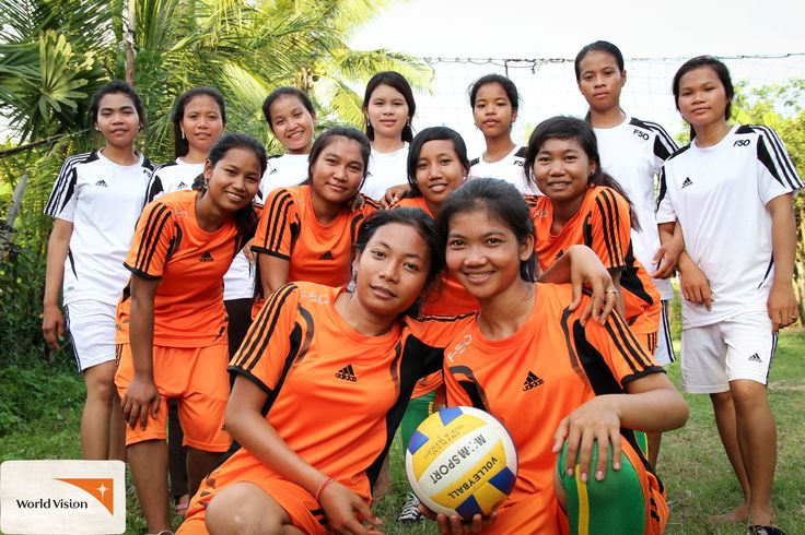 """""""I can see sport brings us energy and motivates us to work harder. And everything boys can do, girls also can,"""" says Sean.  For these young women in #Cambodia, their volleyball team is a way to unite young people and break the negative mindset about girls in their community. With support from World Vision, each week they play sport together and promote #genderequality, education, good health and youth #activism amongst their peers. Photo by Cheyrith Un, #WorldVision"""