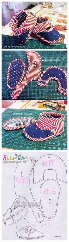 Craft Estrela Canto Artesanato Estrelas: Baby Shoes Calçados de Bebês Produção Tutorial