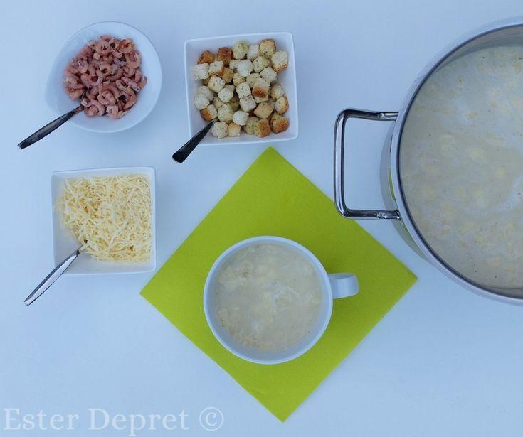 gemakkelijk recept witloofsoep met garnalen