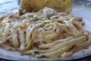 Fettucini Carbonara...delish!!