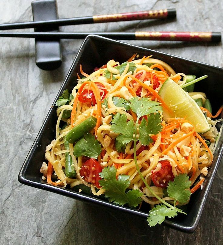 Inspired Edibles: Thai Inspired Green Papaya Salad (Som Tum)