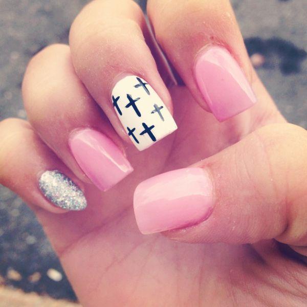christian nail design