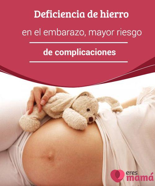 Deficiencia de #hierro en el embarazo, mayor riesgo de complicaciones   La #deficiencia de hierro en el #embarazo aumenta el riesgo de #complicaciones, como parto prematuro o aborto involuntario. Esto afecta al 35% de las mujeres.