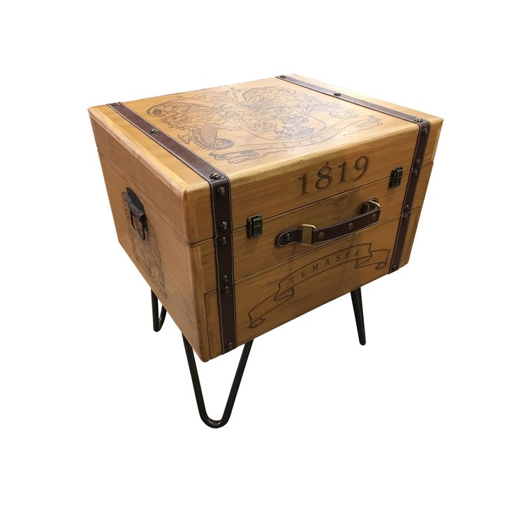 Suitcase Side Table.  A classic vintage design of side table. Be it a side table and a perfect storage spot to save some room space.