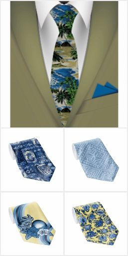 Neckties - Aloha Shirt Looks