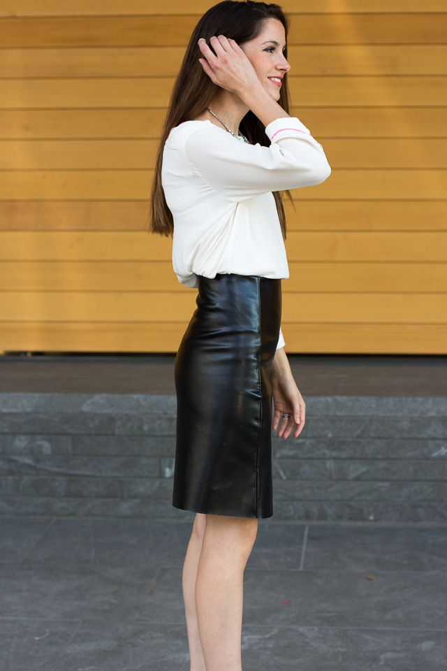 DIY leather skirt. This is from: http://www.cottonandcurls.com/ They have some other great tutorials too!