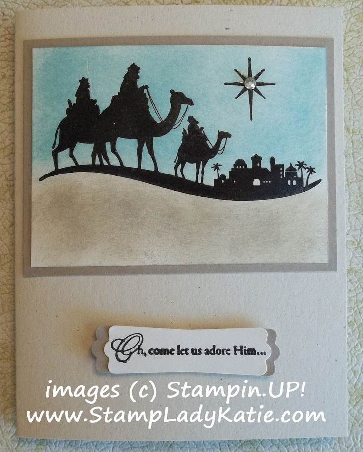 Card made with Stampin'UP!'s stamp set: Come to BethlehemStampin Up Stamps, Bethlehem Cards, Christmas Cards, Soft Colors, Cards Ideas Techniques, Cards Christmas, Cards Native, Cards Crazy, Paper Crafts
