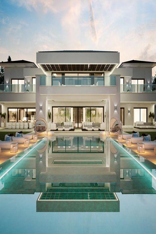 tem casa que ate parece hotel! - Piscina, fachada, iluminação, foto, projeto arquitetura, arquiteto