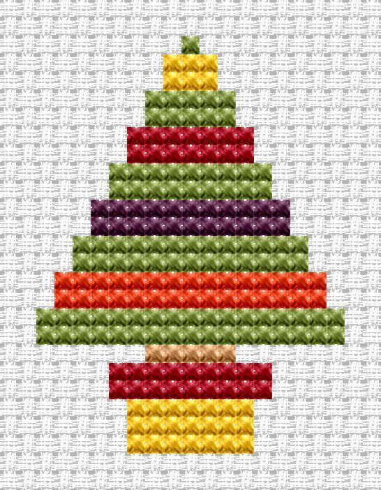Easy Peasy Christmas Tree cross stitch kit