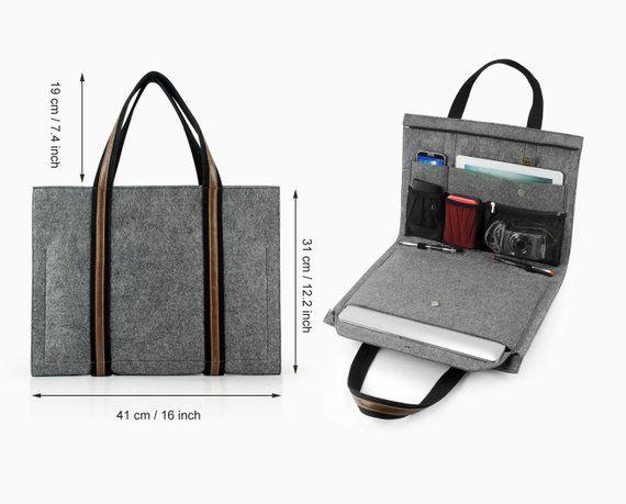 "Multi-function Laptop Bag 11″ 13"" Felt Macbook Air Retina Pro Macbook Sleeve Macbook Case Fashion Special Leather Briefcase Portfolio E2435"