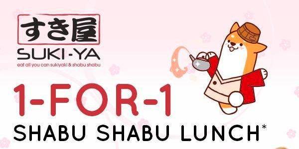 Suki Ya Singapore 1 For 1 Shabu Shabu Promotion 8 14 Apr 2019 Shabu Shabu Eat All You Can Singapore