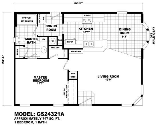 1 bedroom double wide mobile home plan   Google Search   Garden   Pinterest. 1 bedroom double wide mobile home plan   Google Search   Garden