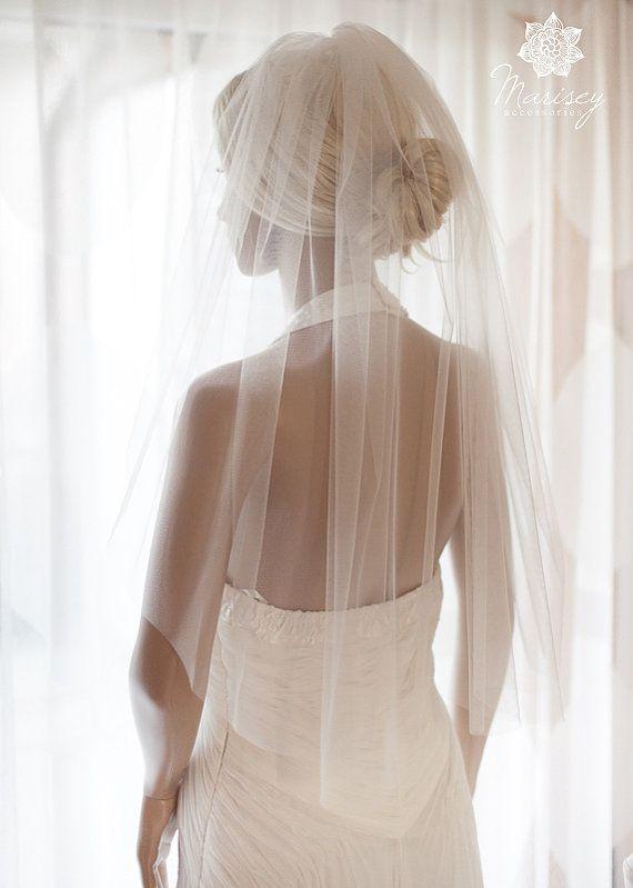 Wedding Veil Elbow Length Veil Bridal Veil by MariseyAccessories