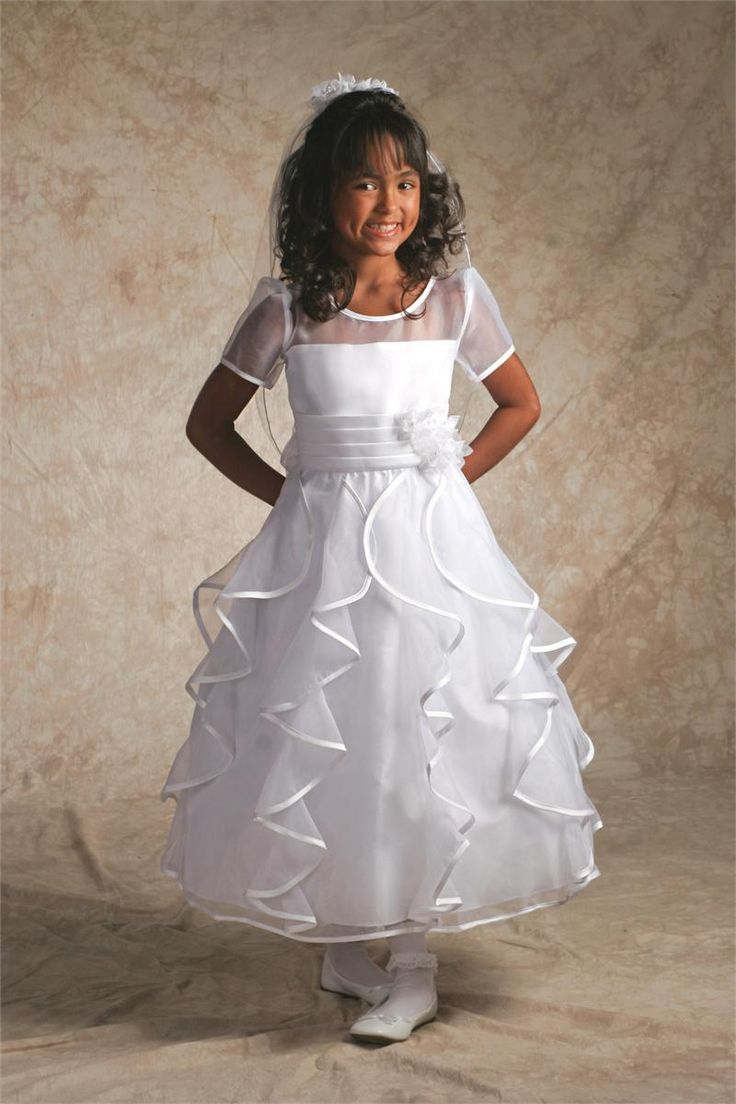 First Communion Dresses with Ruffles