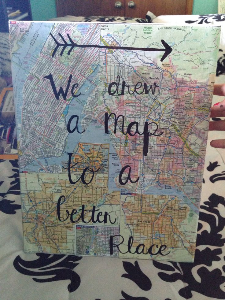 maps by maroon 5 lyrics. Map Canvas Art!