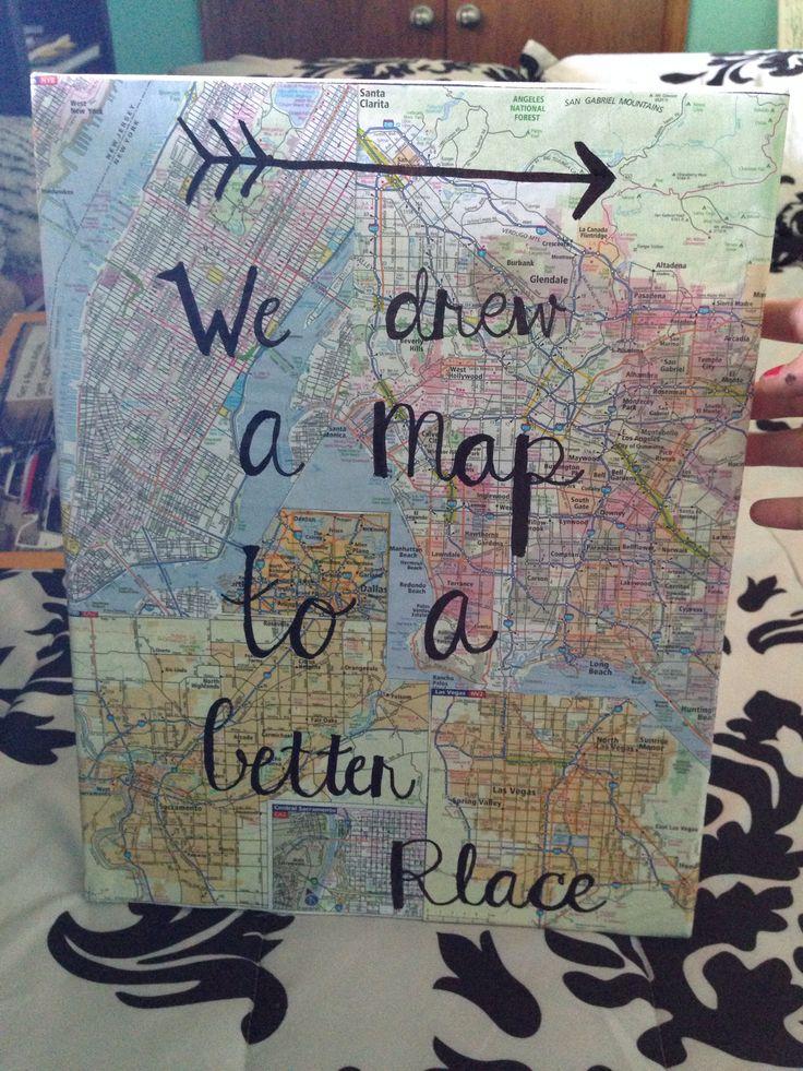 maps by maroon 5 lyrics. Map Canvas Art!
