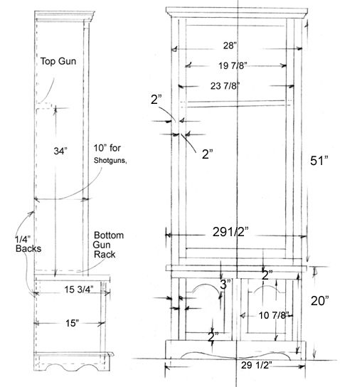 Gun Cabinet Project In 2019 Cabinet Plans Gun Cabinet Plans