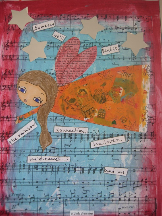 Someday we ll find it Original Mixed media painting on by eltsamp, $80.00