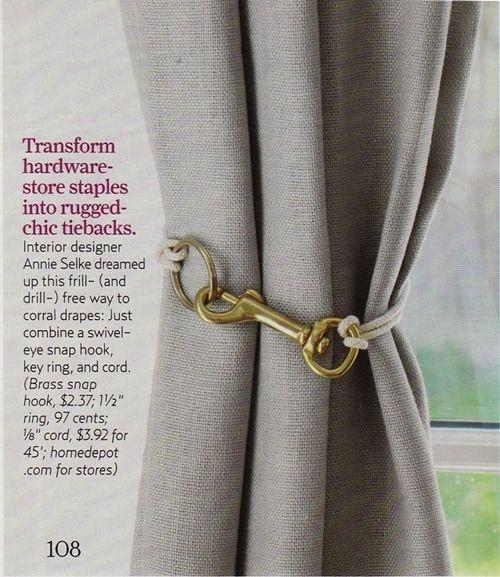 Ajouter un matériel simple à vos rideaux embrasse.
