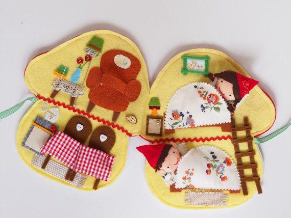 The mushroom house of two tiny elves by PocketsbyJam on Etsy