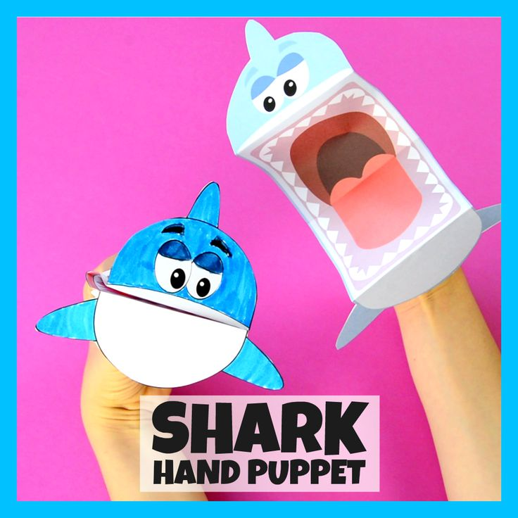 Printable Shark Puppet