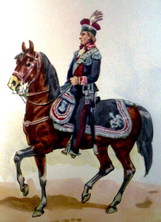 General royal army in uniform to Rules of Procedure, July 17, 1789. Fig. B. Gembarzewski.