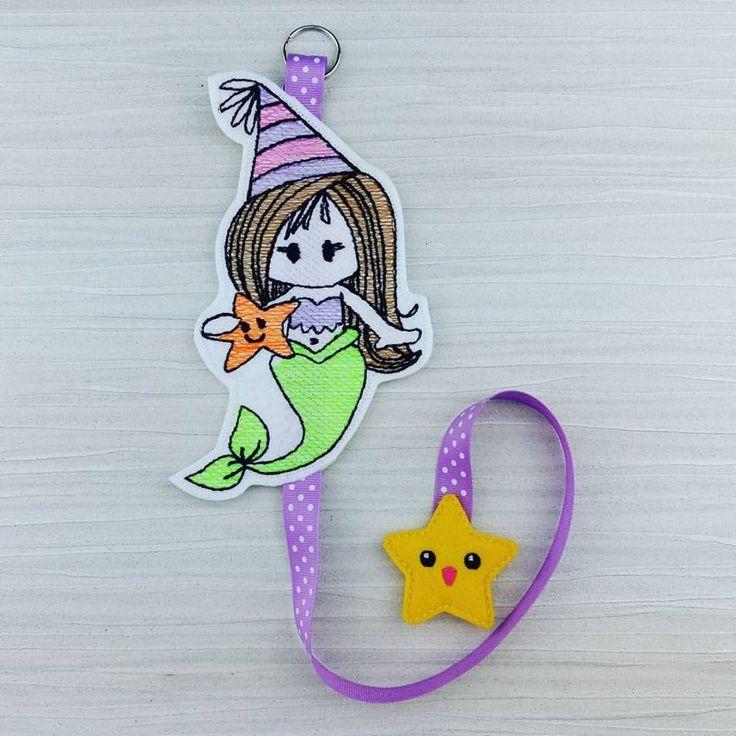 Mermaid hair clip holder - mermaid hair accessory storage - sketch mermaid hair clip hair accessory holder - Gift for Girls - Room Decor by AHeartlyCraft on Etsy