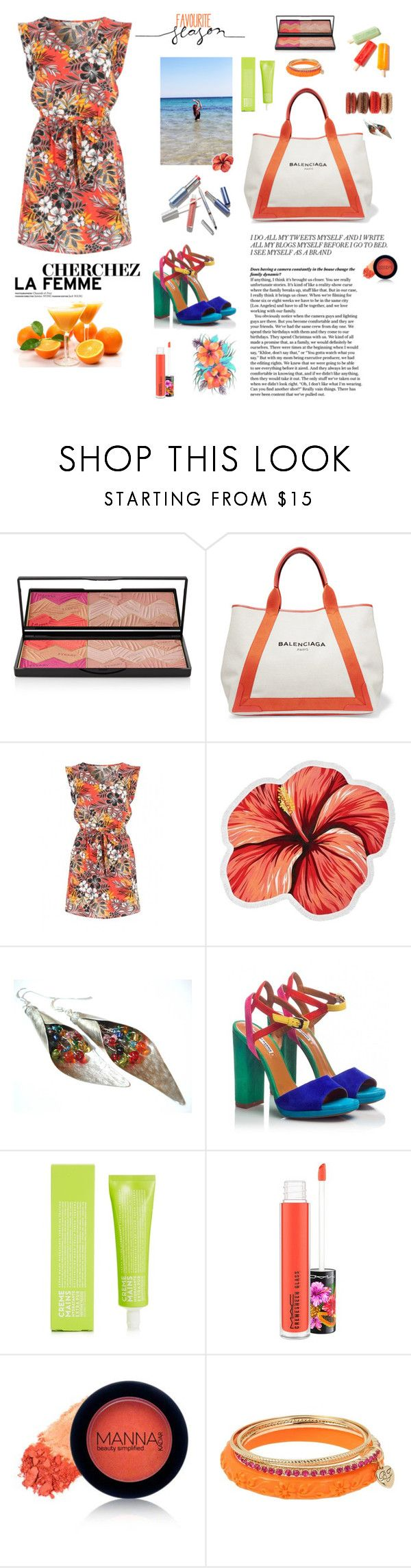 """""""tropic"""" by xexendes ❤ liked on Polyvore featuring By Terry, Balenciaga, LaMont, Fratelli Karida, La Compagnie de Provence, MAC Cosmetics, Manna Kadar Cosmetics and Betsey Johnson"""