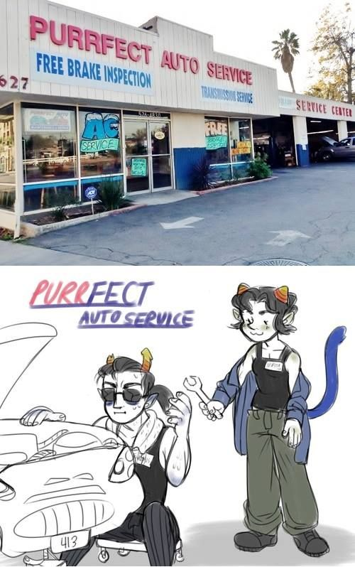 ac service. i swear to every fucking deity there is i will punch a wall if i see equius and nepeta working there.