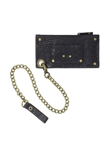 61% OFF Will Leather Zip Pouch Wallet with Chain (Black)