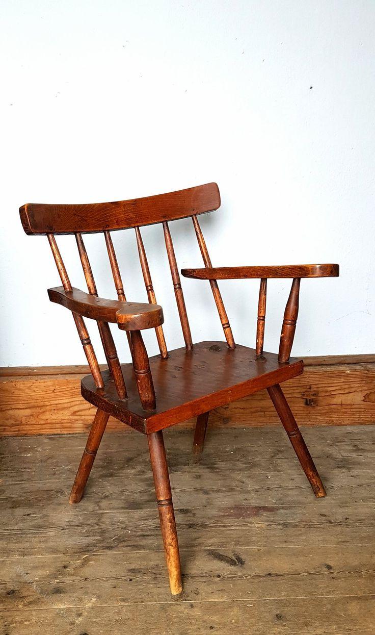 FREE DEL. 19th Century Irish Primitive Elbow Chair in 2020