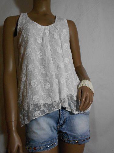 Camiseta de tirantes holgada color blanco
