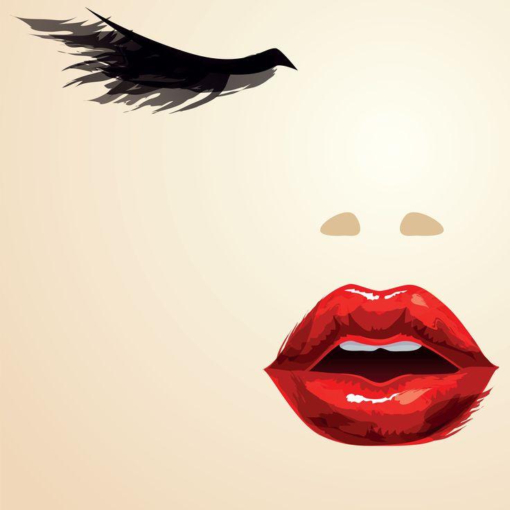 Red Lips — Vector Illustration