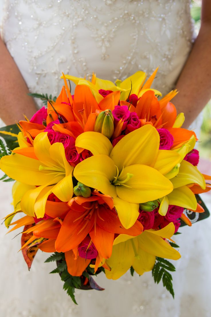 My tropical beach wedding bouquet   #Tropical wedding #Destination wedding #Beach Wedding