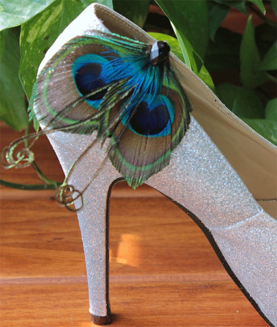 Peacock Shoe Clips... Future diy project? I think yes!
