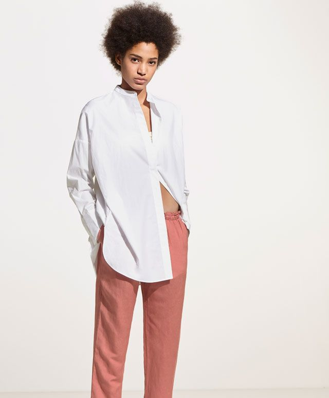 Oversized shirt - New In Spring Summer 2017 trends in women fashion at Oysho online. Find lingerie, pyjamas, slippers, nighties, gowns, fluffy, maternity, sportswear, shoes, accessories, body shapers, beachwear and swimsuits & bikinis.