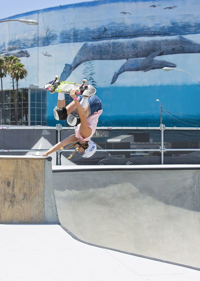 Jordyn Barratt Breaks Barriers Becoming Only Female Skater At LB  Dew Tour Stop.Pro Skateboarder Lacey Baker In A Stunning New Image For Pride Month.