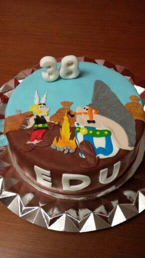 Tarta de una de escena de Asterix y Obelix!!
