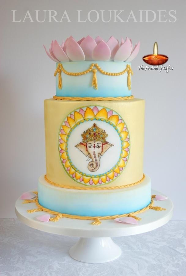 Festival of Lights - Inspired by Lord Ganesh - Cake by Laura Loukaides