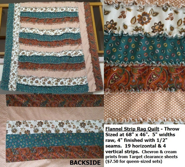 69 Best Images About Rag Quilts Fleece Amp Flannel Blankets