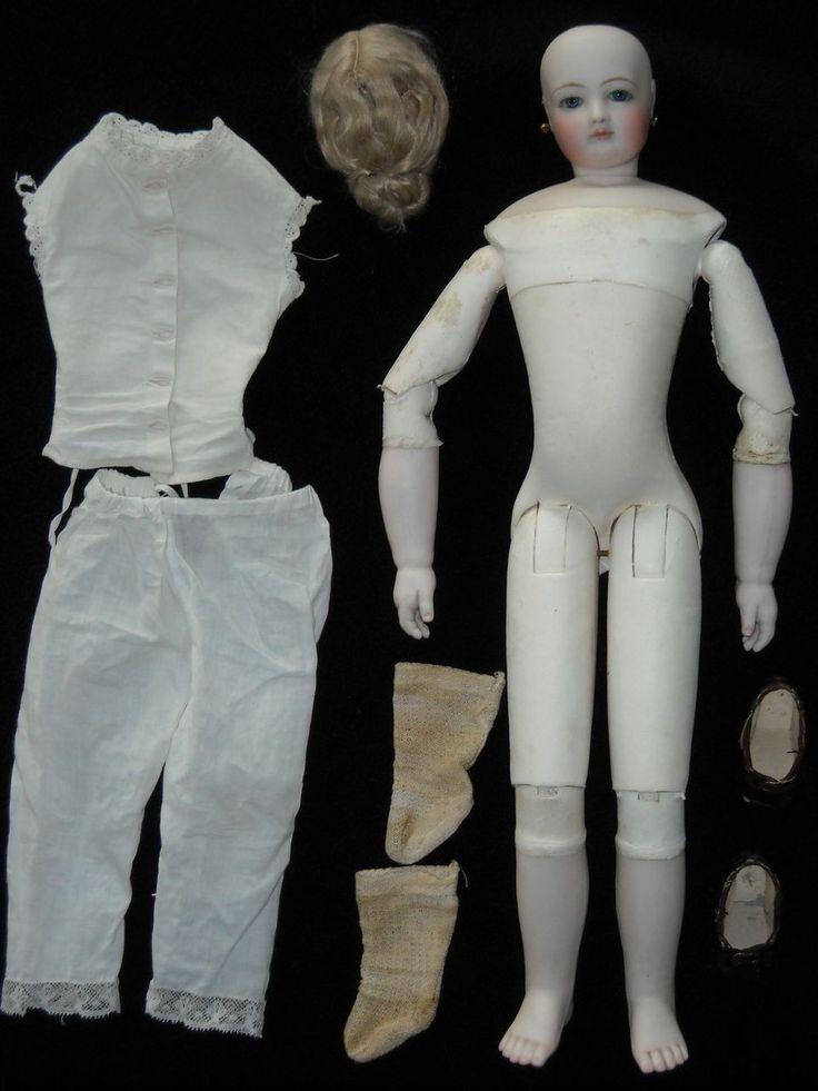 Amazing Antique Wood-bodied Jumeau French Fashion Doll